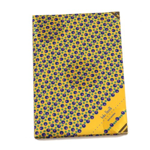 Silk Whish List Diary - Yellow and blue polka dots pattern