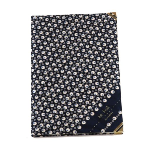Silk Whish List Diary - Black and silver polka dots pattern