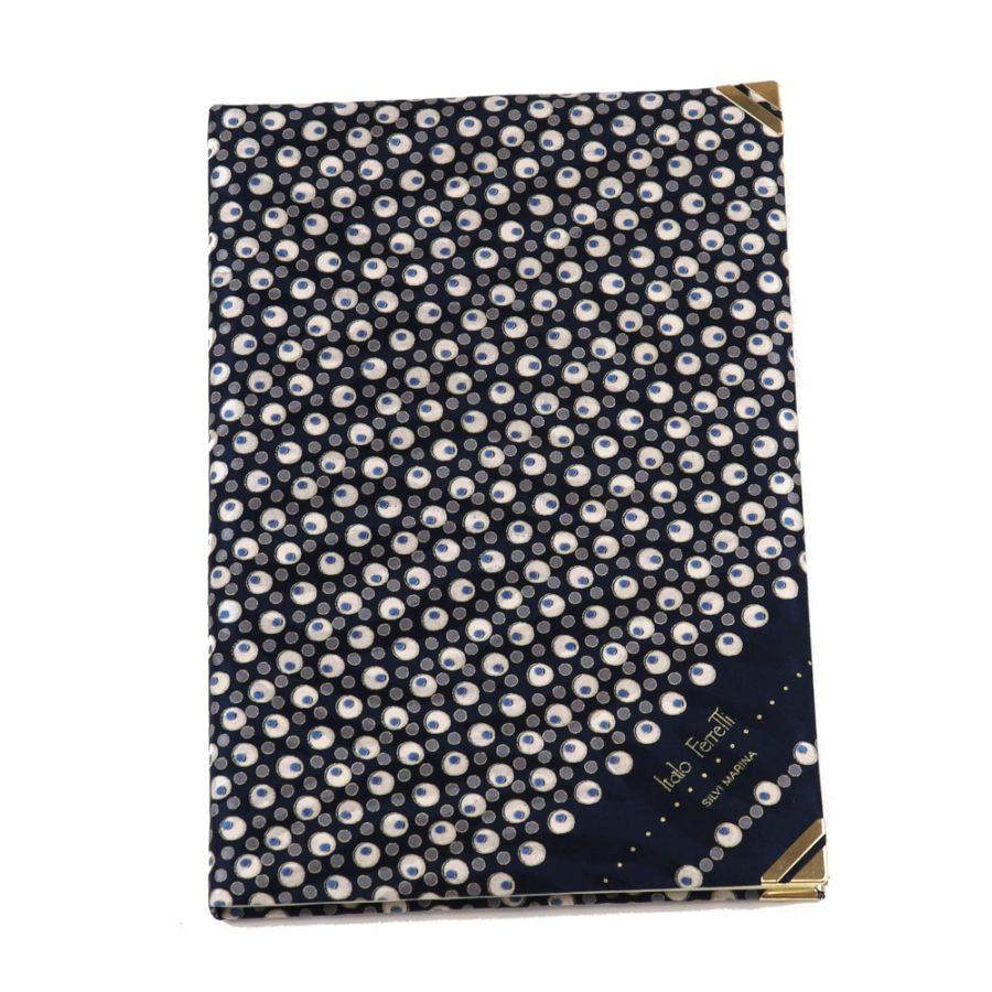 Silk Whish List Diary - Black and silver polka dots pattern