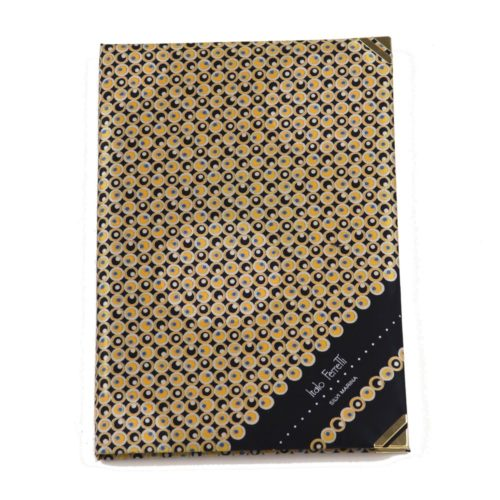 Silk Whish List Diary - Black and gold polka dots pattern