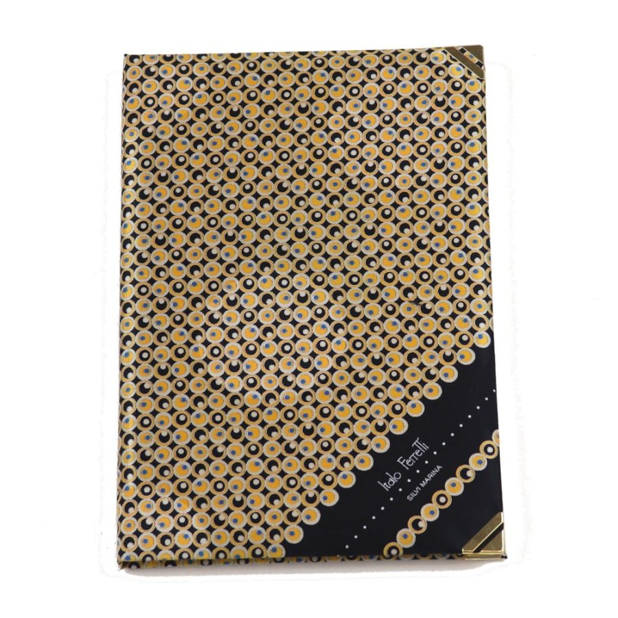 Silk Whish List Diary - Black and gold polka dots pattern
