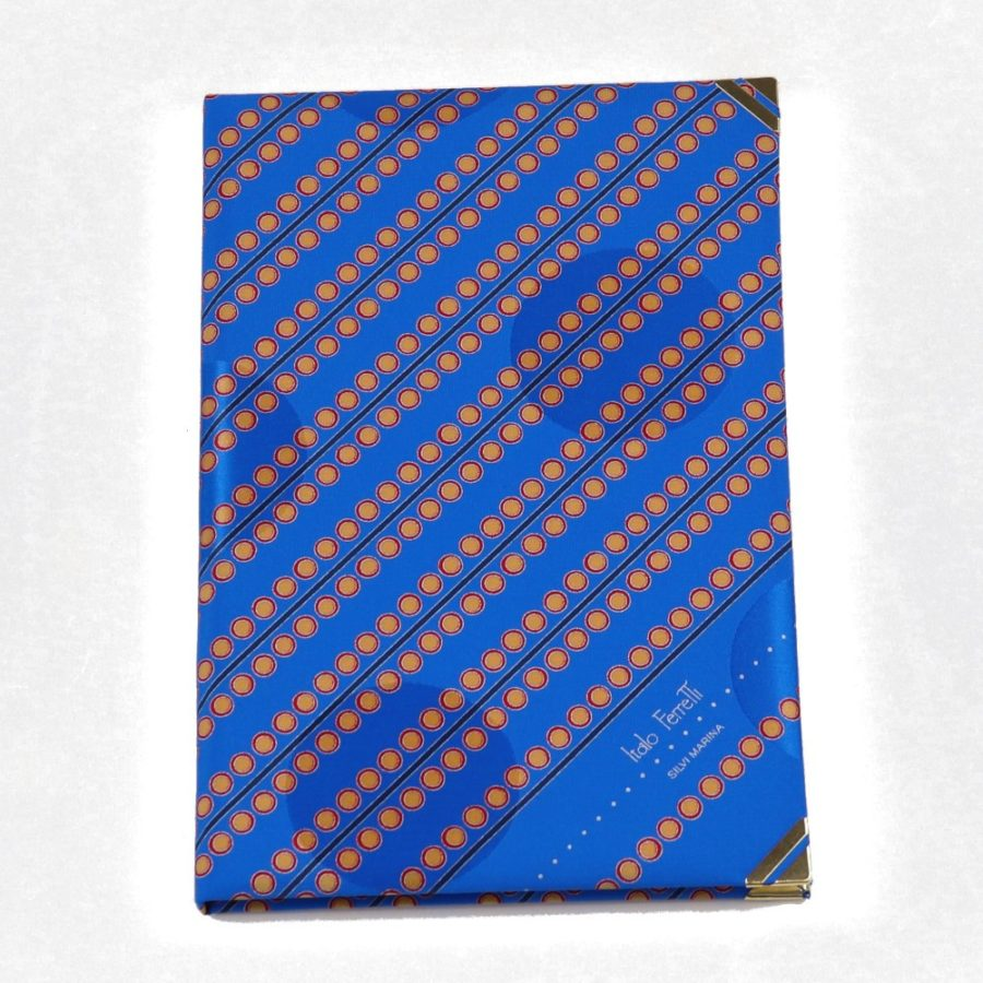 Silk Whish List Diary - Blue and gold polka dots pattern