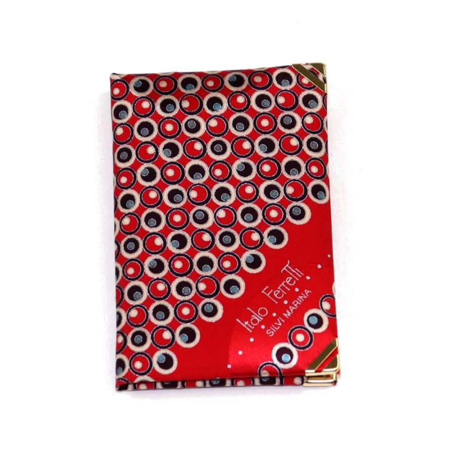Silk mini Whish List Diary - Red and black polka dots pattern