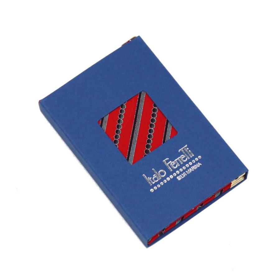 Silk mini Whish List Diary - Red and beige polka dots pattern