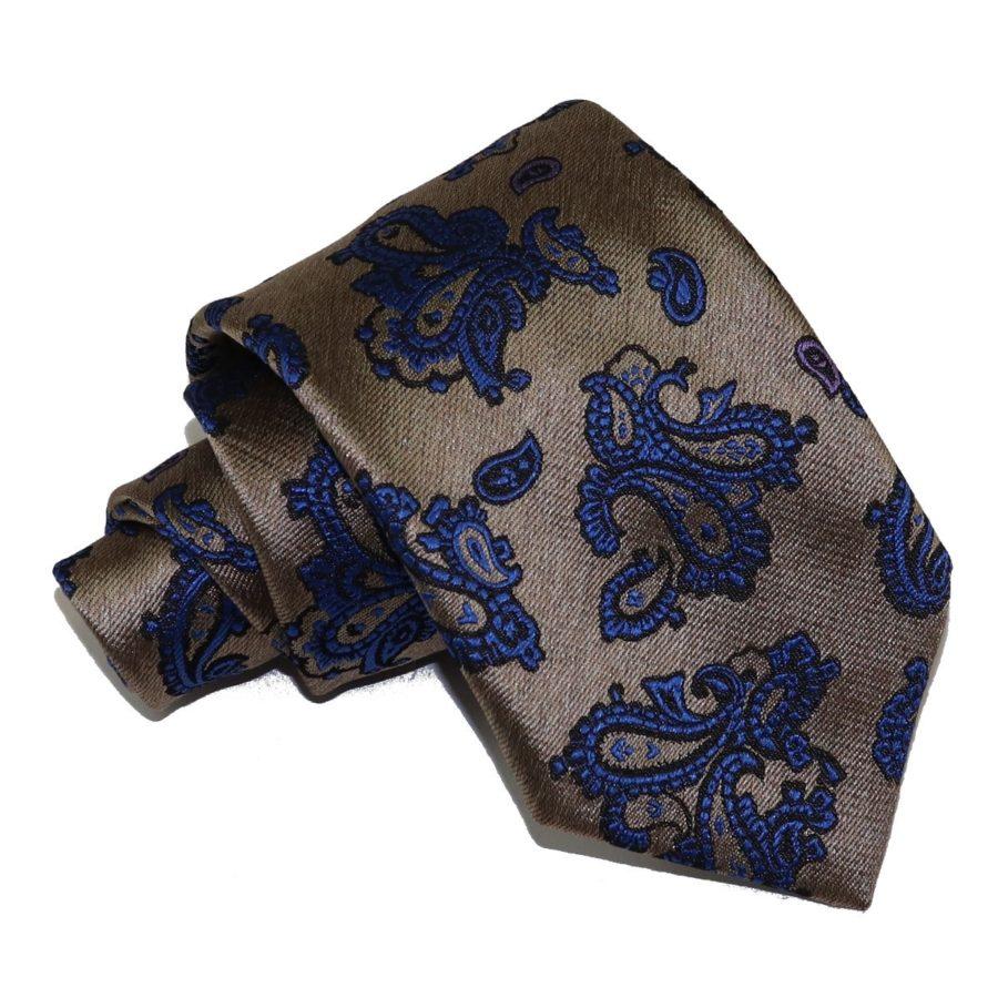 Sartorial woven silk necktie silver and blue 419626-08
