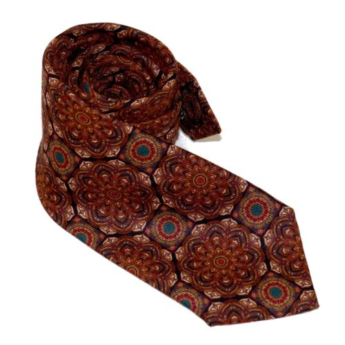 Tailored cashmere tie, multicolor, paisley print 919710-01