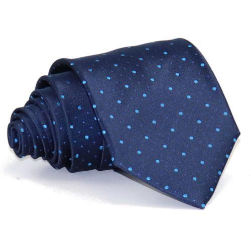 Sartorial blue woven silk necktie 419623-03
