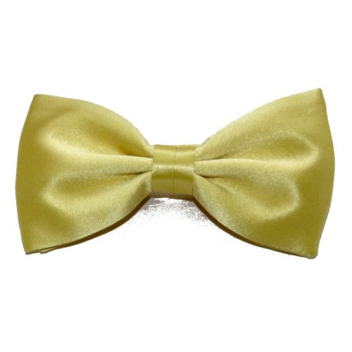 Light yellow silk bow tie 18004-01 D002
