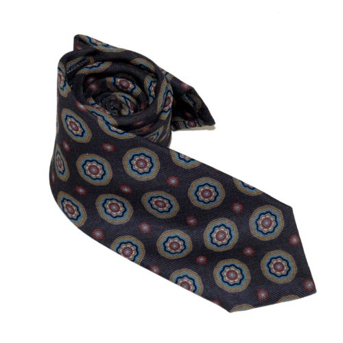 Tailored cashmere tie, multicolor, paisley print 919707-01